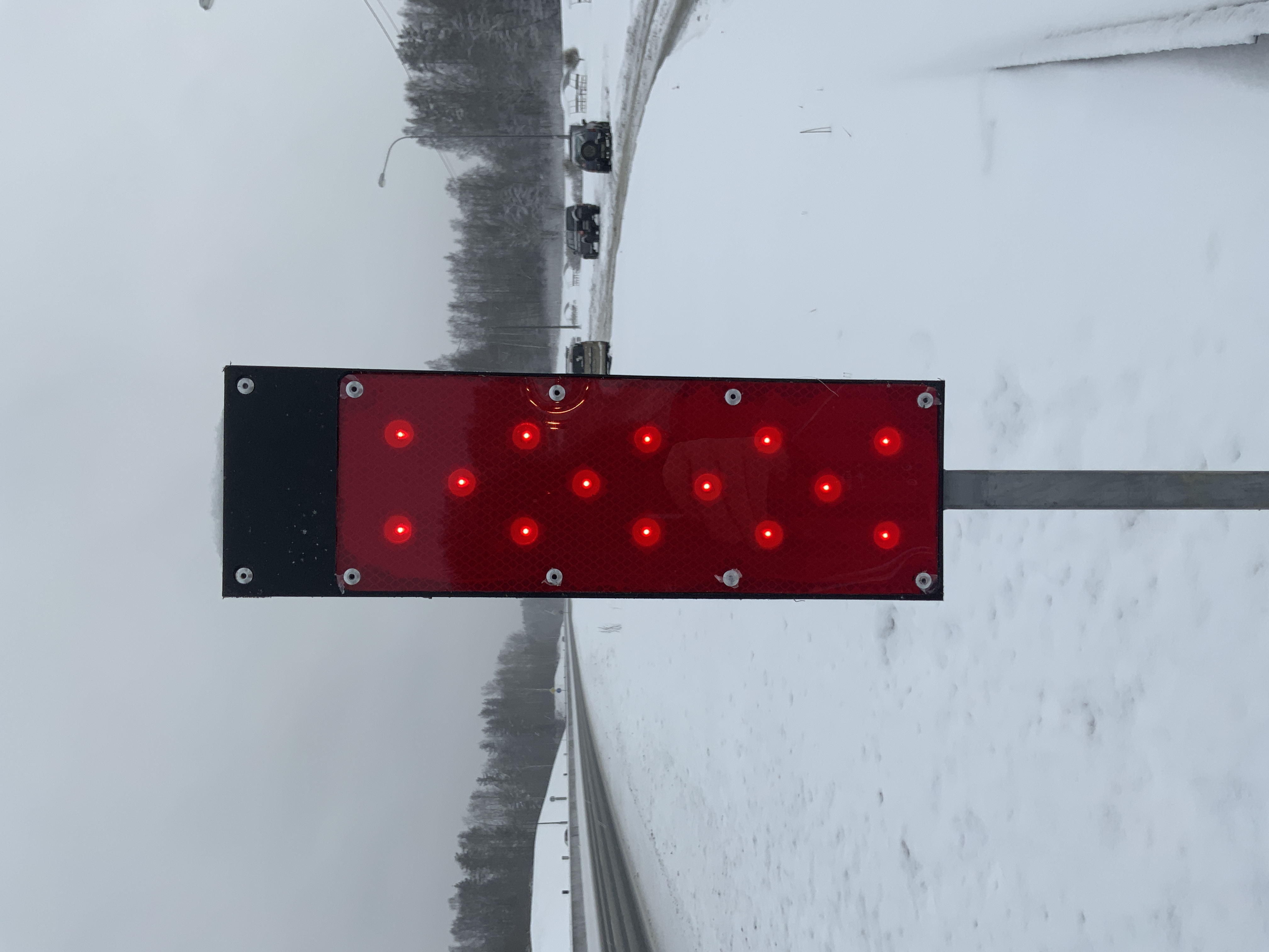 Testing of new signal lamps in the harsh conditions of the Leningrad region.